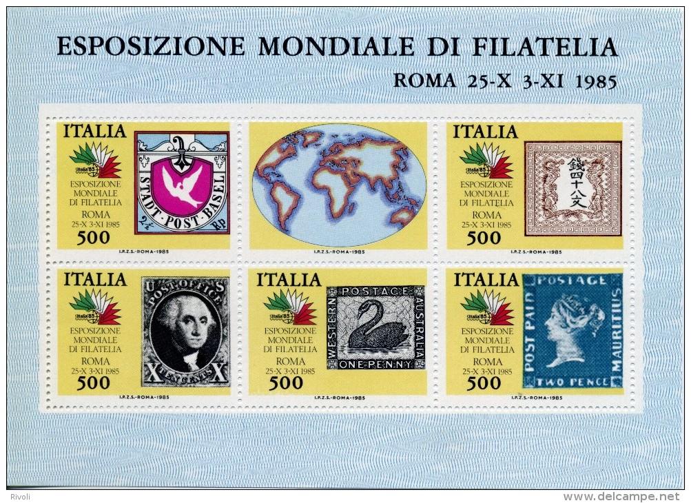 ITALIE 1985, Exposition Philatélique - Italia 85 BLOC BF2 LUXE  ** MNH - 1981-90: Mint/hinged