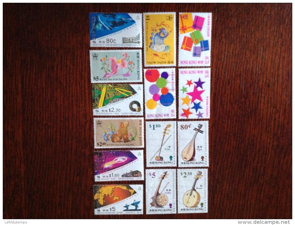 Lot De 14 Timbres Neufs Sans Gomme - Collections, Lots & Séries