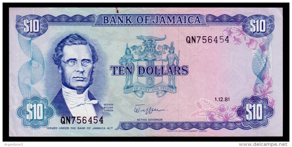 Jamaica 10 Dollars 1981 XF+ - Jamaica