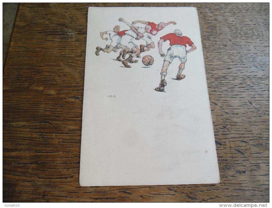 CPA Caricature Football, B.K.W.I 279 - 5, Illustrateur à Identifier Voir Signature - Illustrateurs & Photographes