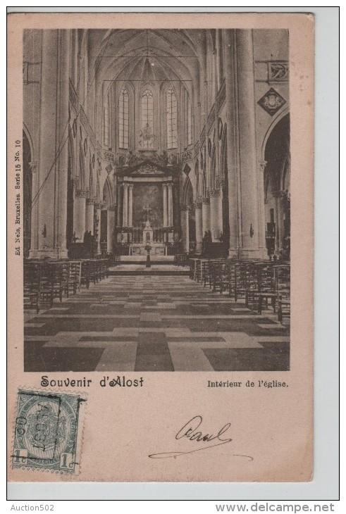 TP 53 Roulette Alost 1902 S/CP Souvenir D'Alost Intérieur De L'Eglise Nels Série 15 N°10 C.Alost 1902 PR2323 - Precancels