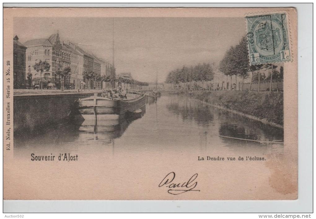 TP 53 Roulette Alost 1902 S/CP Souvenir D'Alost La Dendre Vue De L'écluse C.Alost 1902 PR2325 - Precancels