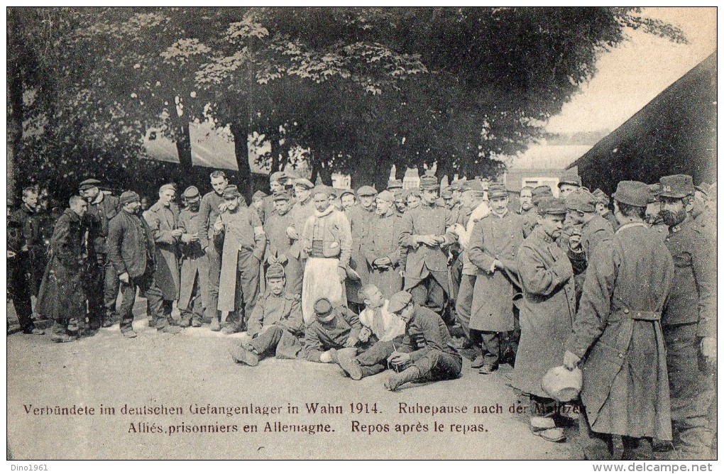 CPA 1550 - MILITARIA - Carte Franchise Militaire 2 Cie Inf - HAMBURG X ENGHIEN - Camp De Prisonniers à WAHN - Zouave - Guerra 1914-18