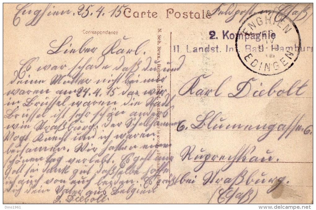 CPA 1550 - MILITARIA - Carte Franchise Militaire 2 Cie Inf - HAMBURG X ENGHIEN - Camp De Prisonniers à WAHN - Zouave - Guerre 1914-18