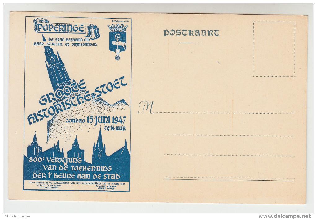 Poperinge, Poperinghe, Groote Historische Stoet, 15 Juni 1947, Postkaart (pk22580) - Poperinge