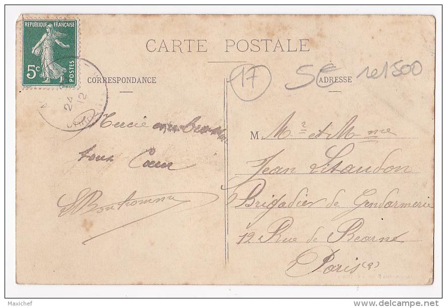 Carte Illustrée Fleurs & Rubans - Une Pensée De Longèves - Circulé 1912, Colorisée - Francia