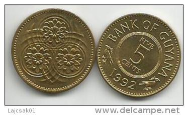 Guyana 5 Cents 1992. High Grade - Guyana