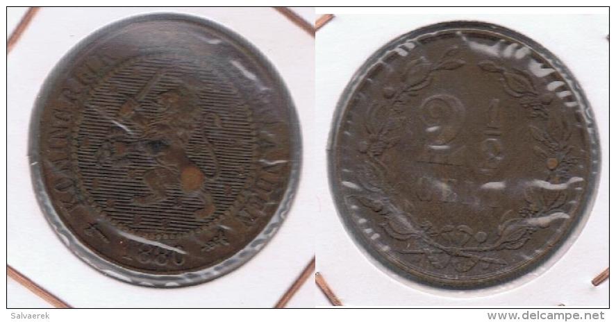 HOLANDA 2 Y MEDIO CENTS  GULDEN 1880  Z - [ 2] 1795-1814 : Protectorat Français & Napoléonien