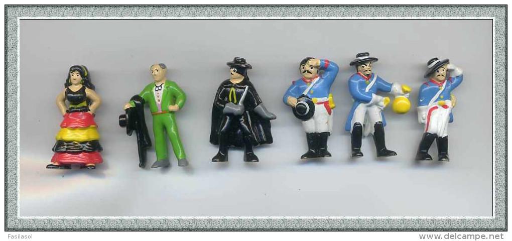 Figurines MARAJA/SCHWIND 1997 : ZORRO La Série Des 6 Personnages - Autres