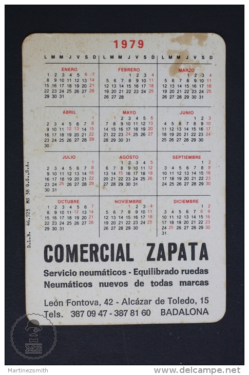 1979 Small/ Pocket Calendar - Old 1890´s Convertible Classic Car - Calendarios