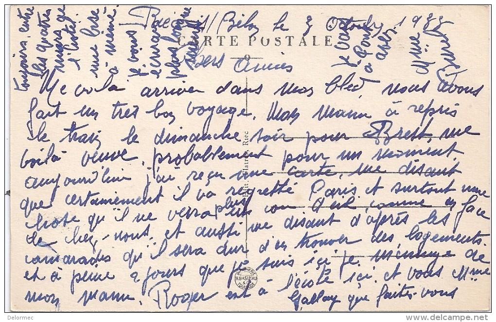CPSM Riec Sur Belon 29 Finistère Vue Générale De La Rivière édit Flatres N°12 écrite En 1933 - France