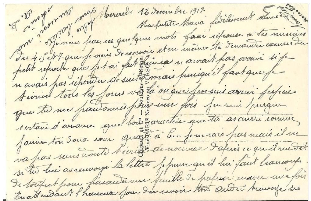 05 - CPA - Grande Guerre - Soldat Français Et Sa Femme - Editeur Pax 2032 - 1917 - (couleur)  - - Patriotiques