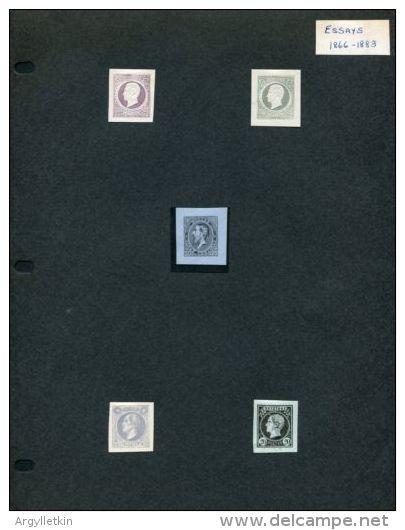 BELGIUM ESSAYS 1866 KING LEOPOLD AMAZING GROUP! - 1865-1866 Profile Left