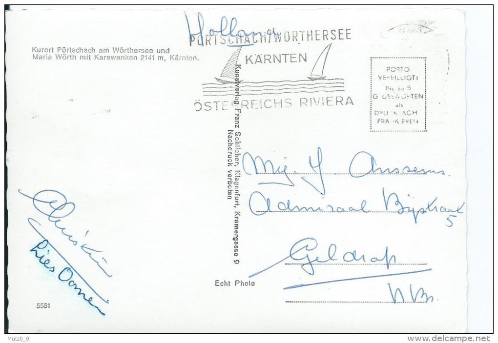 AK 0216  Pörtschach Und Maria Wörth Am Wörthersee Mit Karawanken / Verlag Schilcher Um 1950-60 - Pörtschach