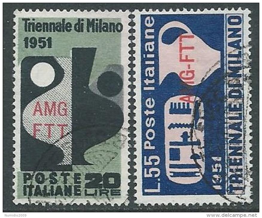 1951 TRIESTE A USATO TRIENNALE DI MILANO - L2 - 7. Triest