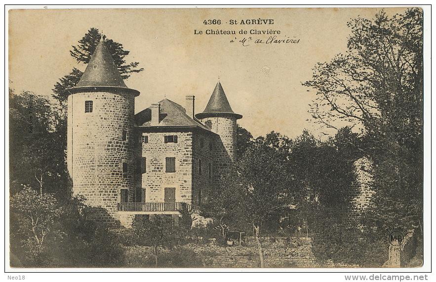 4366 St Agreve Le Chateau De Claviere A Monsieur De Clavieres - Saint Agrève