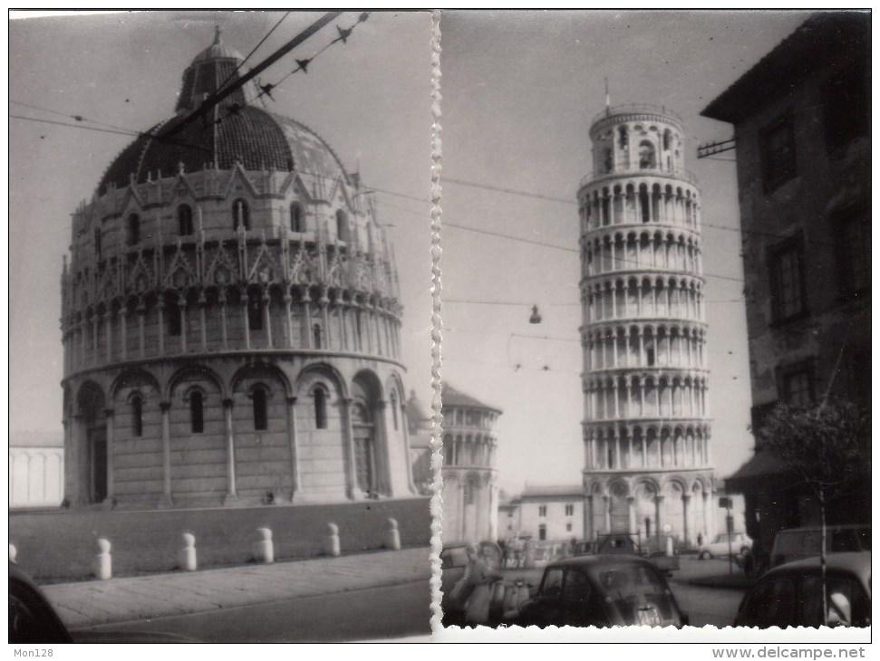 ITALIE - PISE - 5 PHOTOGRAPHIES ORIGINALES 1968 - 13X9 Cms - BASILIQUE ET TOUR PENCHEE - Pisa