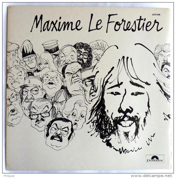 Disque 33T Vinyle Maxime Le Forestier - Saltimbanque  - POCHETTE CABU POLYDOR 2473046  1975 - Disques & CD