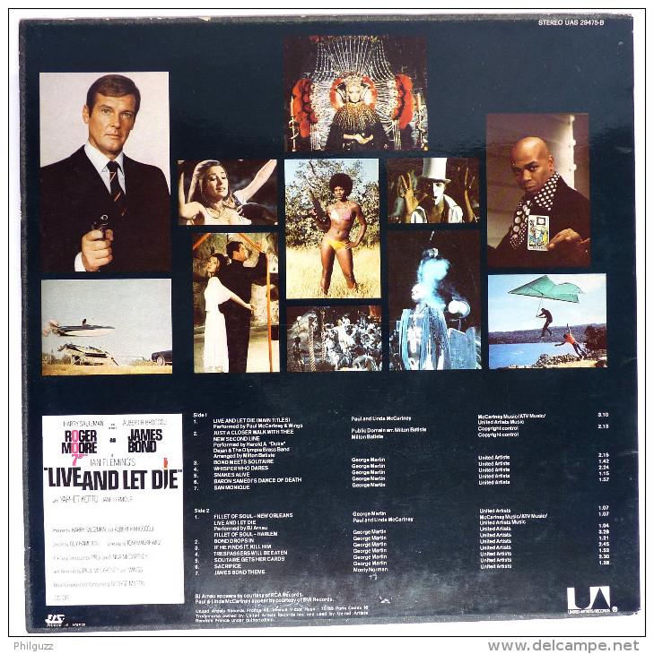 Disque Vinyle 33T JAMES BOND -  VIVRE ET LAISSER MOURIR - UAS 29475 B - 1973 - Disques & CD