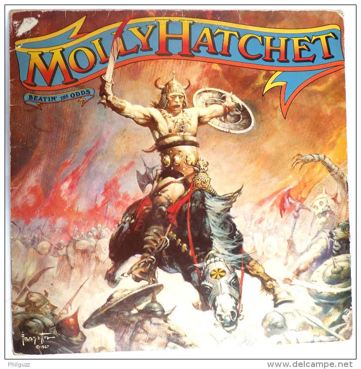 RARE Disque Vinyle 33T MOLLY HATCHET Beatin' The ODDS - EPIC 84471 1967 POCHETTE FRAZETTA - Disques & CD