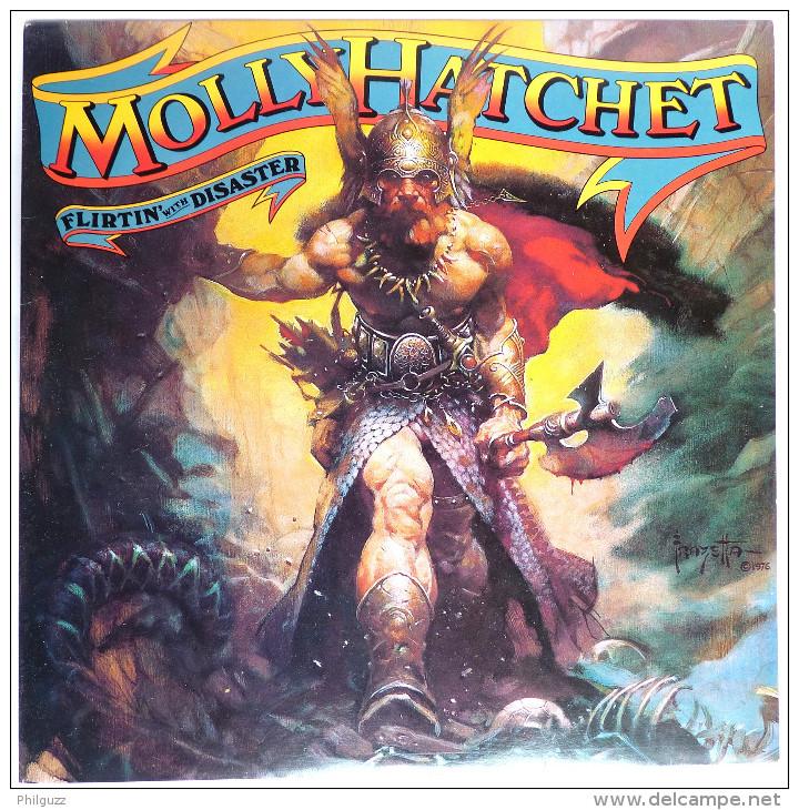 RARE Disque Vinyle 33T MOLLY HATCHET Flirtin' With Disaster - EPIC 83791 1976 POCHETTE FRAZETTA - Disques & CD