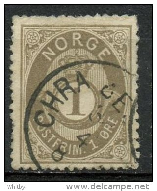 Norway 1887 1o Post Horn Issue #22 - Norvège