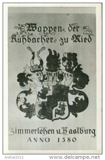 Rarität Wappen Der Kühbacher Zu Ried Zimmerlehen Und Haslburg Anno 1580 Aichach - Europe