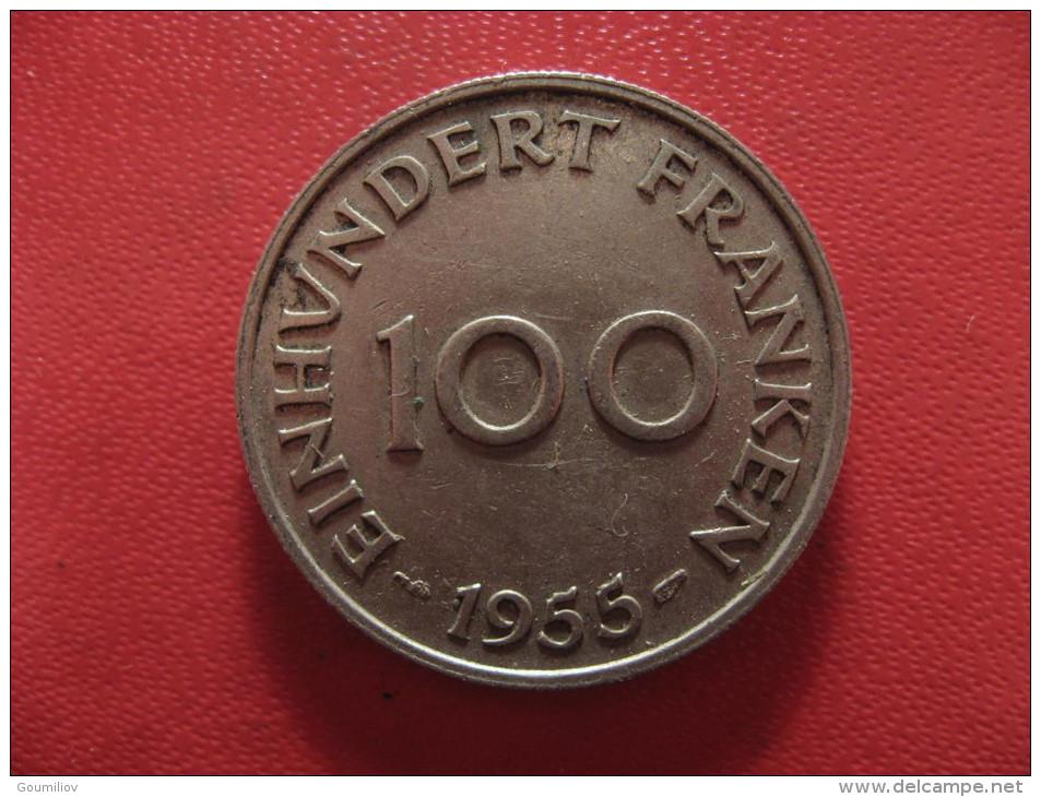 Saarland - 100 Franken 1955 0962 - Sarre