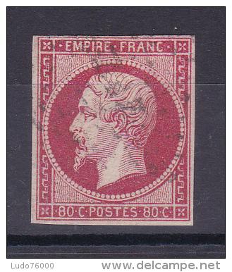 NAPOLEON N° 17A OBL COTE 65€ - 1853-1860 Napoleon III