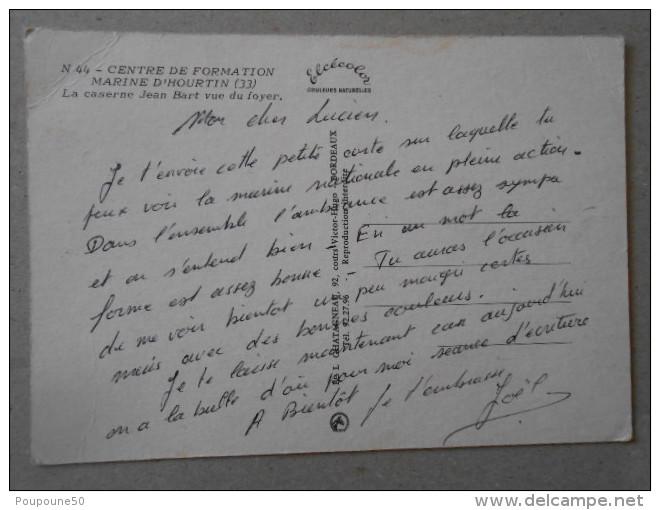 CP 33 Centre De Formation Marine D'HOURTIN  - La Caserne Jean Bart Vue Du Foyer - Marins En Rangs Défilé - Voitures - France