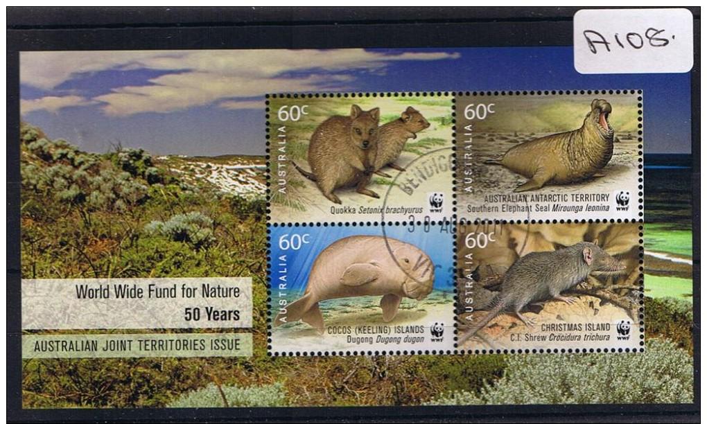 Australia 2011  W.w.f.  Mini Sheet  F/used A108 - Usati
