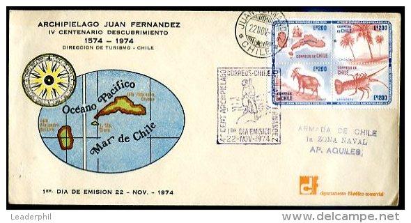 CHILE - JUAN FERNANDEZ ISLAND FDC 1974 VF - Chile