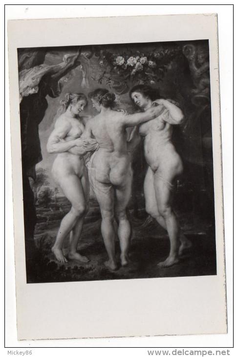 Nu--tableau De RUBENS--Les Trois Grâces--Musée Du Prado (Madrid),cpsm Glacée 14 X 9  éd ????? - Tableaux