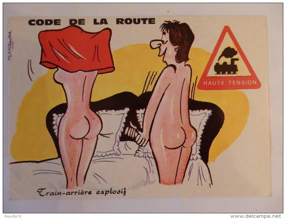 """Code De La Route """"Train-arrière Explosif"""" Signée Alexandre. - Humor"""
