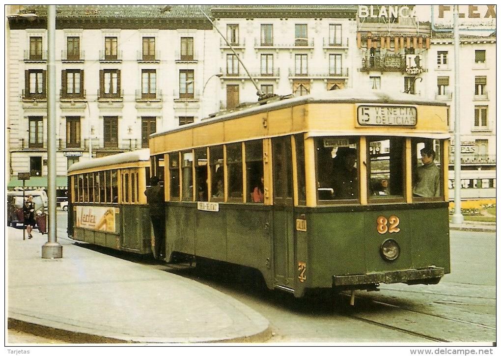 Nº 302 POSTAL DE ESPAÑA DE TRANVIA DE ZARAGOZA DEL AÑO 1971 (TREN-TRAIN-ZUG) AMICS DEL FERROCARRIL - Tranvía