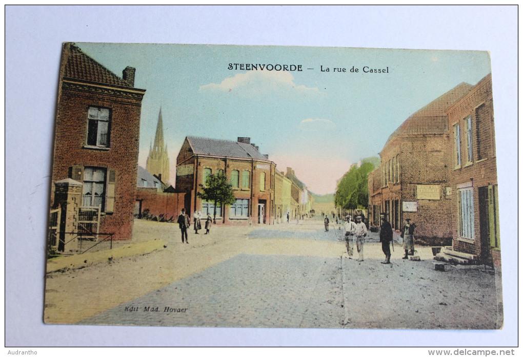CPA Steenvoorde Rue De Cassel Animé - Steenvoorde