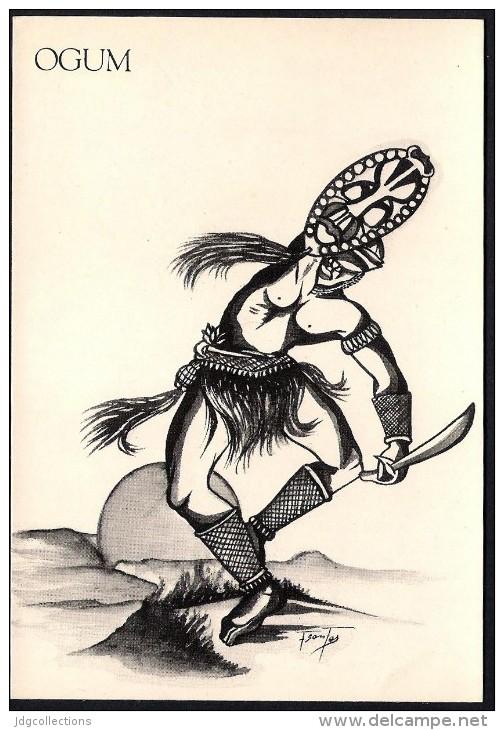 # 3. OGUM, ORIXA ESOTERIC BRAZIL PRINT Art Print Stampa Gravure Druck Brasil Bresil Brazilien Religion - Religion & Esotericism