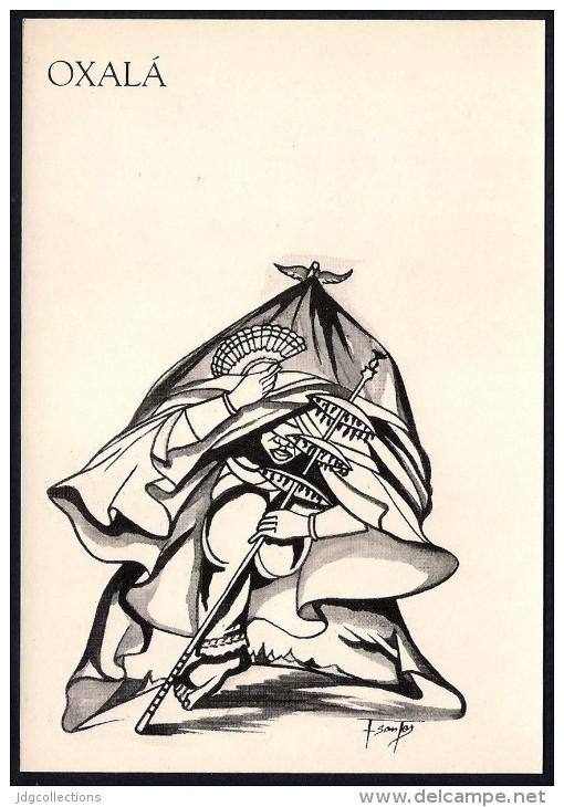 # 5. OXALA, ORIXA ESOTERIC BRAZIL PRINT Art Print Stampa Gravure Druck Brasil Bresil Brazilien Religion - Religion & Esotericism