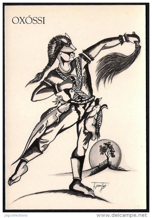 # 6. OXOSSI, ORIXA ESOTERIC BRAZIL PRINT Art Print Stampa Gravure Druck Brasil Bresil Brazilien Religion - Religion & Esotericism