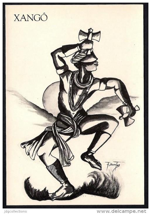 # 8. XANGO, ORIXA ESOTERIC BRAZIL PRINT Art Print Stampa Gravure Druck Brasil Bresil Brazilien Religion - Religion & Esotericism