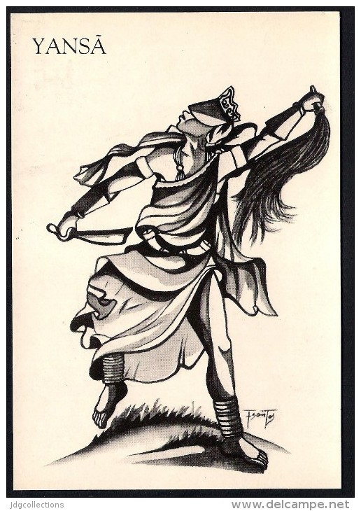 # 9. YANSA, ORIXA ESOTERIC BRAZIL PRINT Art Print Stampa Gravure Druck Brasil Bresil Brazilien Religion - Religion & Esotericism