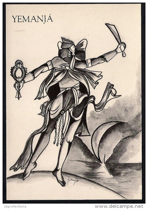 # 10. YEMANJA, ORIXA ESOTERIC BRAZIL PRINT Art Print Stampa Gravure Druck Brasil Bresil Brazilien Religion - Religion & Esotericism