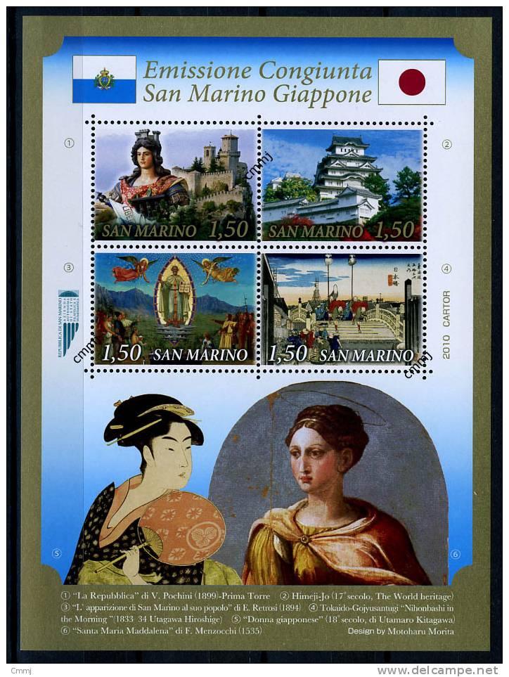 2010 - SAINT-MARIN - SAN MARINO - GIAPPONE - Sass. ?? - MNH - Mint - Emissione Congiunta - Blocchi & Foglietti