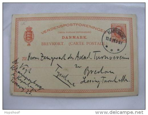 Carte Postale Brevkort Denmark Danmark Klampenborg 1914 - Timbres