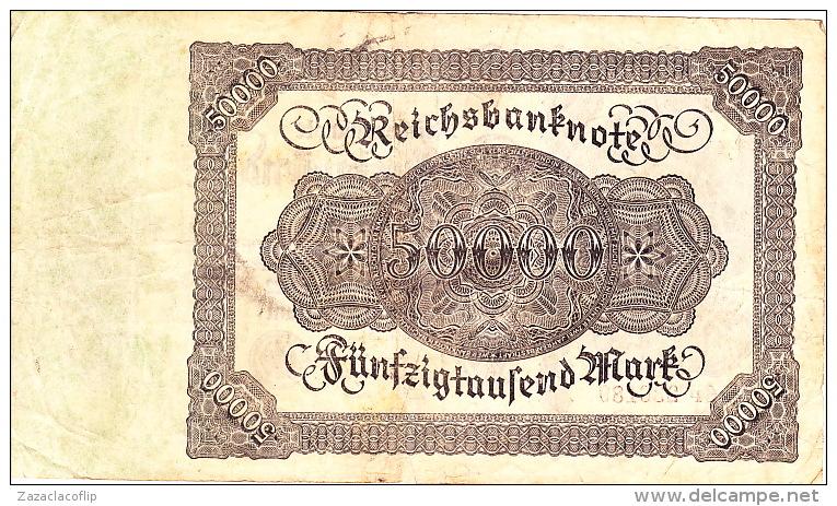 Billet De Banque 50 000 Marks - 19 Novembre 1922 - N° 6P236189 - [ 2] 1871-1918 : German Empire