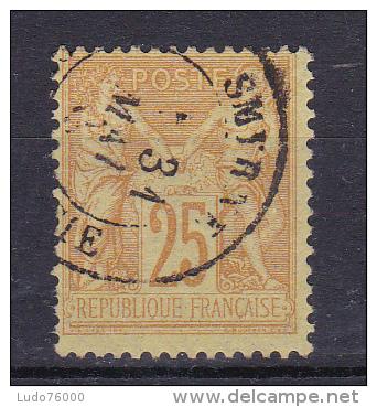 SAGE N° 92 OBL CACHET SMYRNE - 1876-1898 Sage (Type II)
