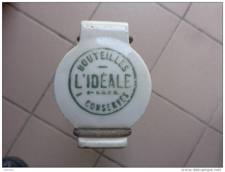 Bouteille L'ideale Conserve Hauteur 32cm 3/4  Marque Deposee Poids 1.521kg - Other Collections