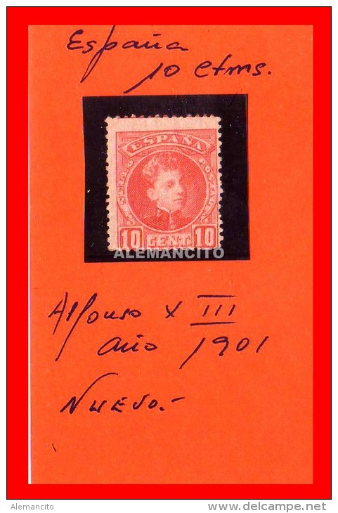 ESPAÑA - ALFONSO XIII AÑO 1901 - Nuevos