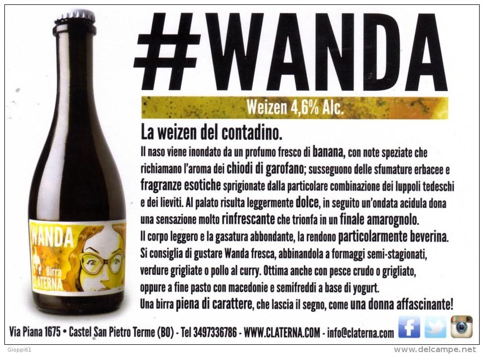 Cartolina Pubblicitaria Birra Artigianale Claterna (fronte E Retro) - Non Classificati
