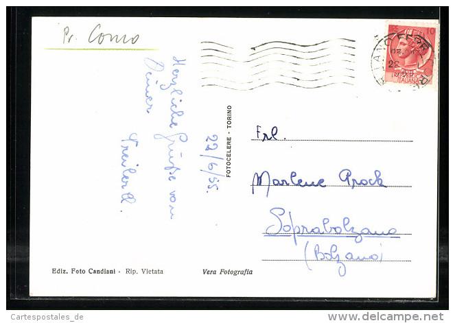 Cartolina Mozzate, Via Varesina, Strassenansicht - Altre Città